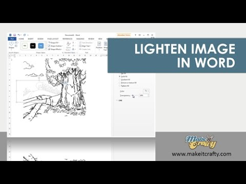 Ms Word Transparency Trick - Lighten an image