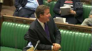 David Cameron joke gets Commons roaring with