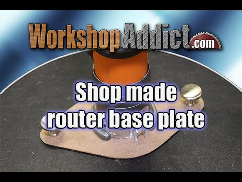 Shop Made Router Base - Build It Yourself!