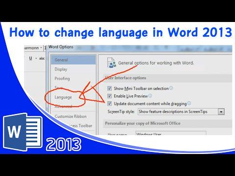 How to change language in word 2013 วิธีการตั้งค่า คำสั่ง และเมนูภาษาไทย Microsoft Word 2013