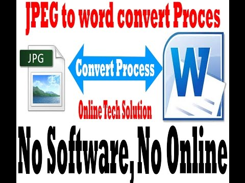 Convert JPEG to word document without software and Online