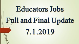 NTS Jobs For Educators In Punjab 2019 in Daily Dunya