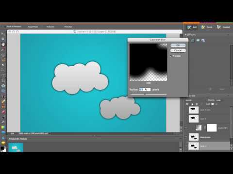 Make Cartoon Clouds in Photoshop