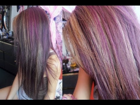 Dying my hair dark purple with highlights! (VPFASHION extensions)