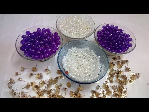 How To Make Simple And Beautiful Pearl Earrings At Home   DIY   Pearls Jewelry Making   DiyArtiePie