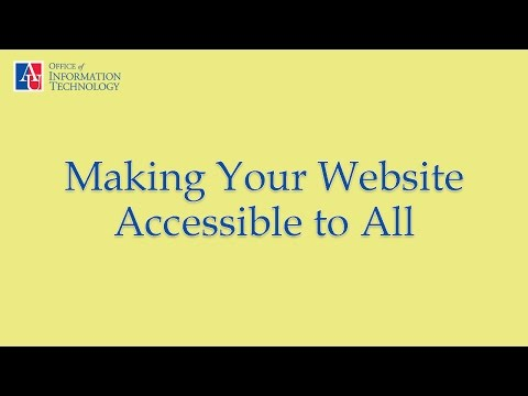 Making Your Website Accessible