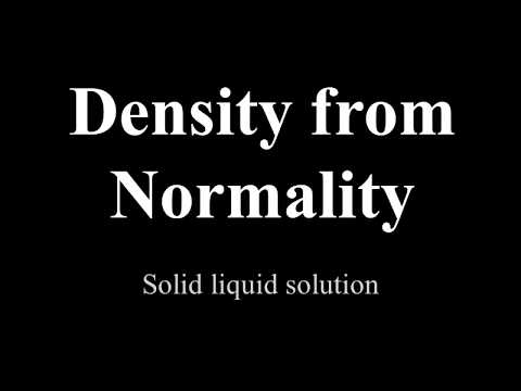 How to find density from normality