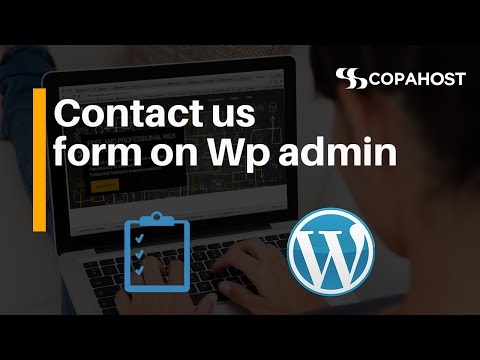 How to insert a Contact Us page in Wordpress