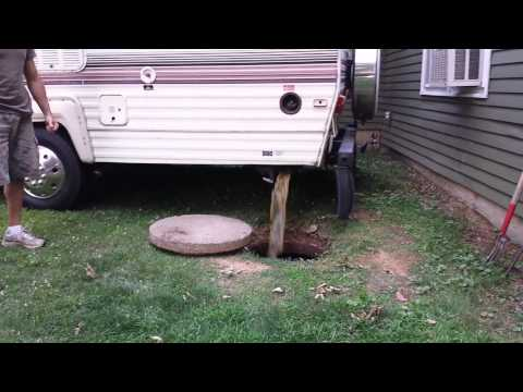 RV holding tank drain into septic tank HOW TO