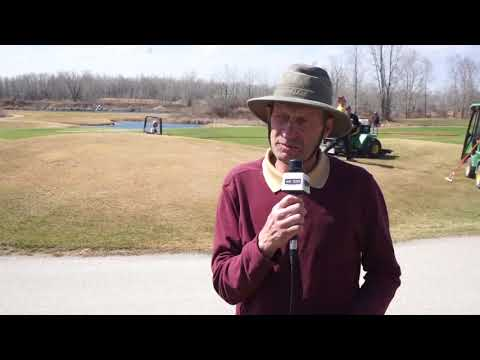 Quarry Oaks greens superintendent Wilf Peters