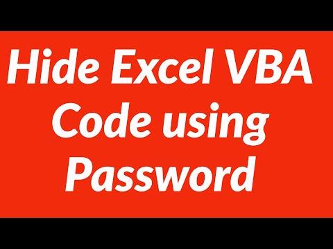 Hide Excel VBA Code using Password