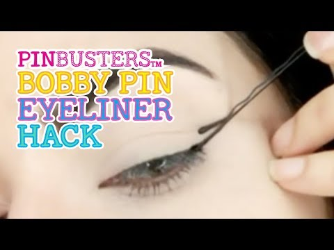 How To Apply Eyeliner With A Bobby Pin - DOES THIS WORK?