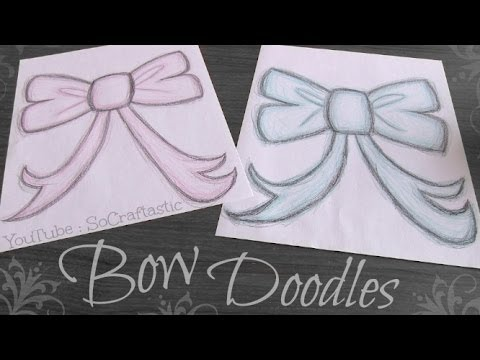 How To Draw a BOW - Easy Doodle How To | SoCraftastic