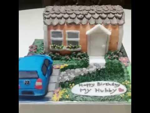 House & Car Cake Decoration