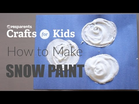 How to Make Snow Paint | PBS Parents | Crafts for Kids