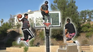 INSANE BASKETBALL MINI HOOP DUNK CONTEST!