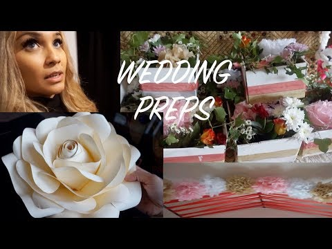 WEDDING PREPARATIONS | DIY FLOWER WALL/SELFIE FRAME & CENTREPIECES!