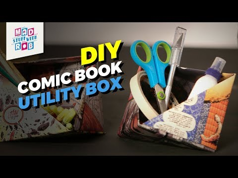Comic Book Utility Box | Simple Origami | Mad Stuff With Rob