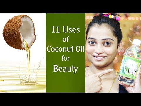 11 uses of COCONUT OIL for Beauty | Get Beautiful SKIN, Spotless Skin, Soft Skin using Coconut Oil