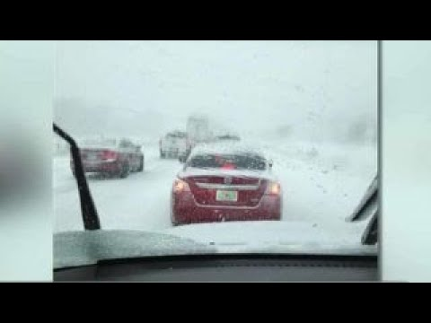Motorist describes icy road conditions while heading south