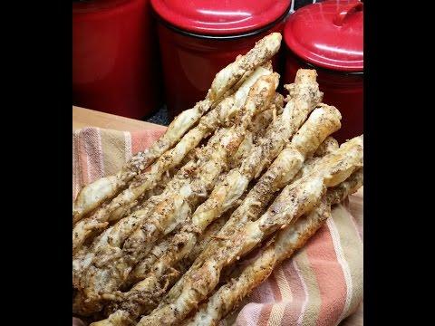 Twisted Parmesan and Sesame Bread Sticks