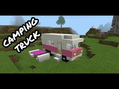 Minecraft pe:How to make mini camping truck in Minecraft pe and minecraft pc