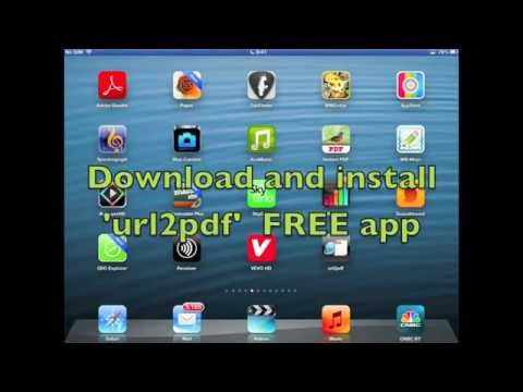 Quick and easy way to convert webpages to pdf on iPad or iPhone