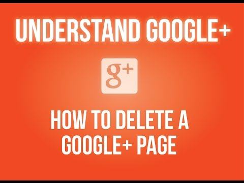 How to delete a Google+ page?