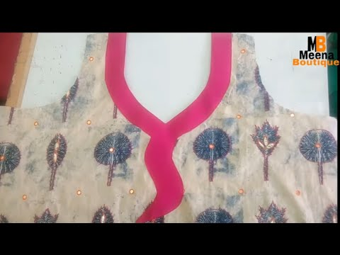FRONT NECK  DESIGN  CUTTING AND STITCHING
