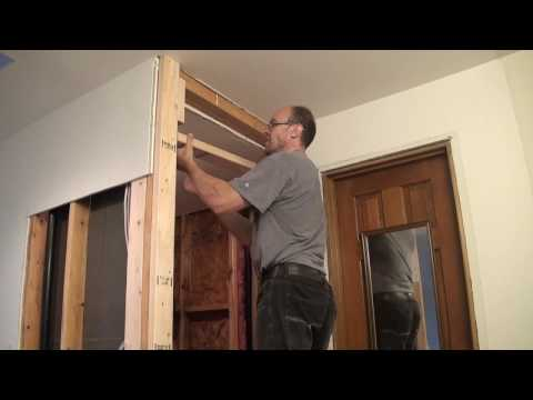 Bathroom Remodeling. Part 7. Closet wall frame and Sheetrock installation.