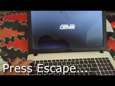 Boot Menu on ASUS X540S laptop