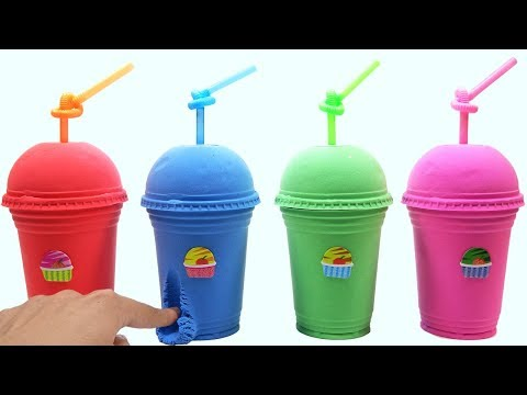 Learn Colors Kinetic Sand Coffee Box VS Sticker Ice Cream Surprise Toys How To Make For Kids