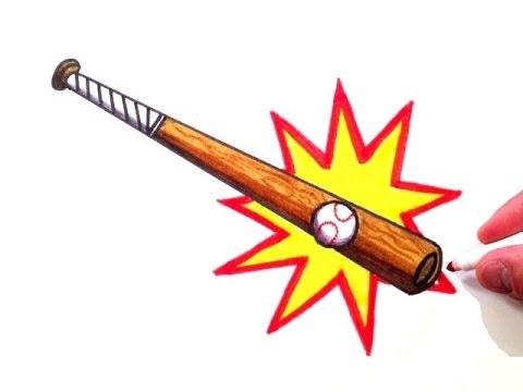 How to Draw a Baseball Bat Hitting a Baseball