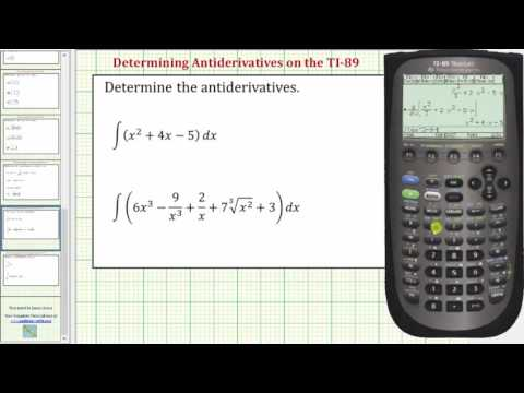Determine Antiderivatives (Indefinite Integrals) on the TI-89