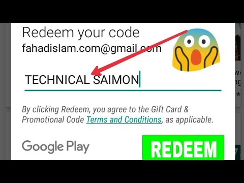 how to get free redeem code with playstore