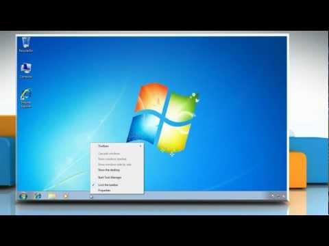 How to make taskbar bigger or smaller [ Resize ] - Windows 7