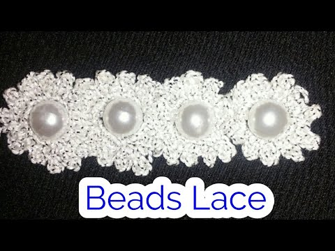 Crochet Beads Lace in hindi.indian crochet patterns