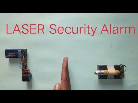 LASER  SECURITY ALARM Explain (Using IR LED)