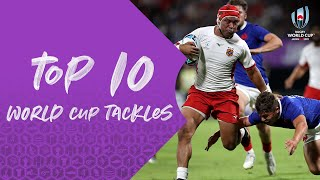 Ten of the Best Tackles from Rugby World Cup 2019