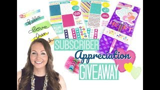 Message to Subscribers!   Subscriber Appreciation Giveaway