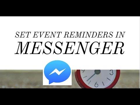 Messenger Update : Set Event Reminders in Facebook Messenger