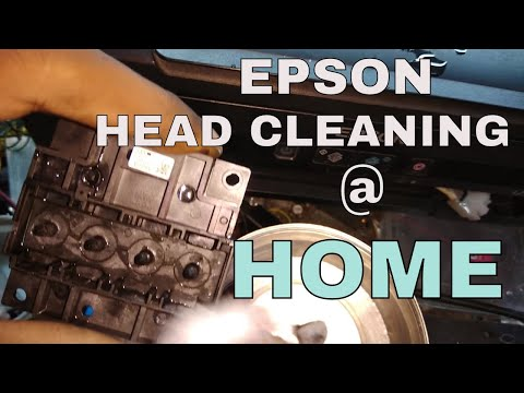 PRINTER HEAD REPAIR #EPSON L210, 220 HEAD CLEANING & RED LIGHT BLINKING SOLUTION