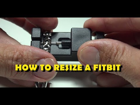 How to resize a Fitbit band / strap