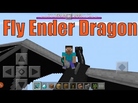 HOW TO RIDE ENDER DRAGON in Minecraft Pocket Edition! (MCPE) (Addon)