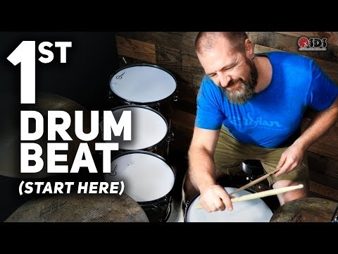 Your First Drum Lesson - How To Play Drums - DRUM LESSON