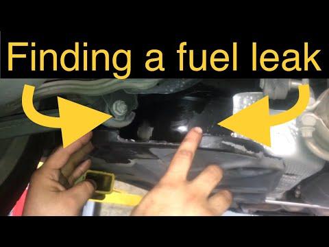 Finding a fuel leak. Like a boss