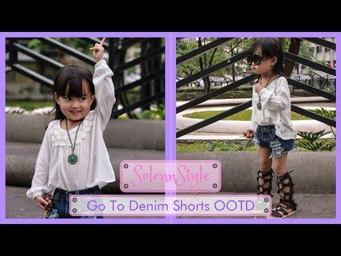 a3ecd003e73e Solenn s Go-To Denim Shorts with Gladiator Sandals OOTD - H M Kids