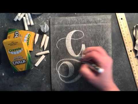 SheShe Design Chalk Script Lettering UPPERCASE G