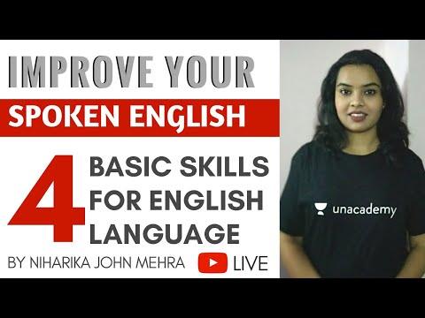 4 Basic Skills for English Language - Improve Your Spoken English with Niharika John Mehra