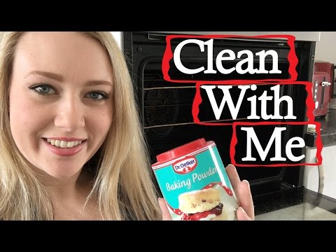 How To Clean an Oven With Baking Powder And Vinegar !